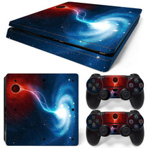 PS4 Slim Space Galaxy Console & 2 Controllers Decal Vinyl Art Skin Wrap Sticker - $12.84