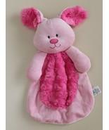 "Baby Gear Pink Bunny Lovey Security Blanket 12"" Soft Rabbit Squeak Swirls - $14.82"