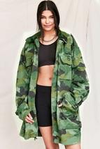 New Womens Serb Yugoslav army parka jacket military camouflage camo wood... - $35.00