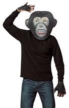 Moneky Mask Kit Adult Chimp Primate Teeth Hand Mitts Animal Halloween GC... - $44.99