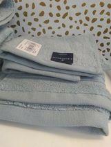 Spa Solid Washcloth Acoustic Aqua - Fieldcrest -13'' x 13''-100% cotton-NEW !  image 4