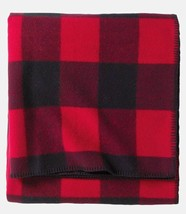 PENDLETON Eco-Wise Wool Solid Blanket Red Plaid KING Sustainable Renewab... - $157.41