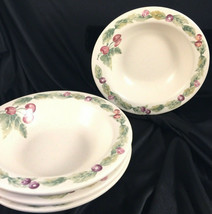 Set Of 4 Pfaltzgraff Jamberry soup / cereal bowls  Lot of 4 USA 7 1/4 - $22.28