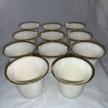 11 Lenox Porcelain China Gold Rim Demitasse Tea Egg Cup Liner Insert Green Mark - $128.68