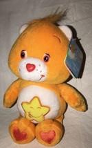 "2002 Care Bears Baby Laugh-a-Lot Bear 8"" Orange Plush Toys NWT - $21.99"