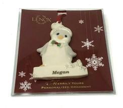 "Lenox Merrily Yours Personalized Ornament China Penguin ""Megan"" - $6.17"