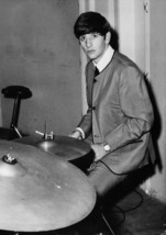 Art print POSTER Musician Ringo Starr Playing Drums - $3.95+