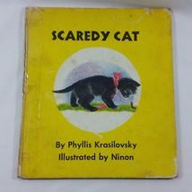 Scaredy Cat 1959 Childrens Vintage Book Phyllis Krasilovsky 1st Print Ha... - $69.99