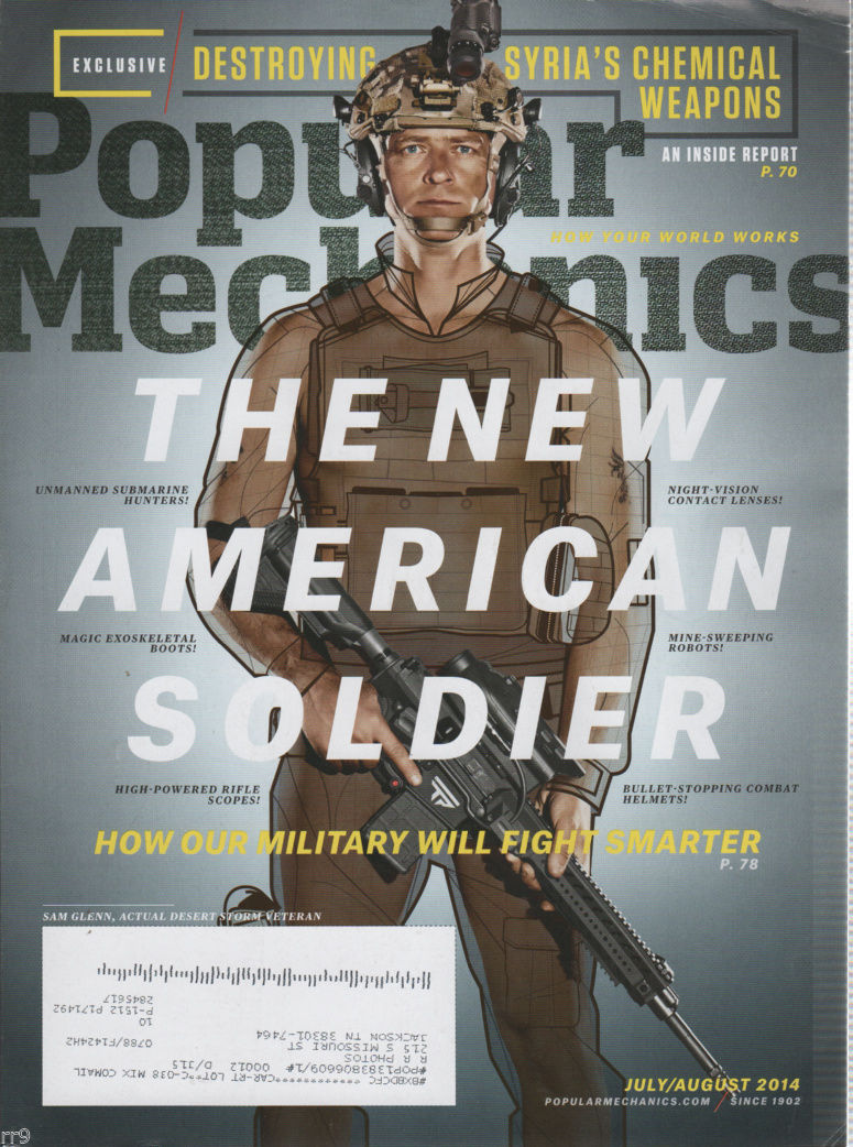 Primary image for Popular Mechanics Magazine 7/08/14 The New American Soldier