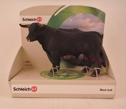 Schleich - Ring in Nose Black Bull Figurine Figure Farm Animal Toy - $13.99