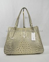 NWT Brahmin Adina Leather Tote/Shoulder Bag in Silver Birch Melbourne image 6