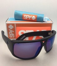 New Spy Optic Sunglasses Touring Matte Black Frame w/ Happy Bronze+Blue Mirror - $124.95