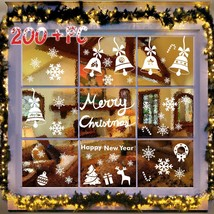 Snowflakes Window Clings PVC Winter Decal Stickers For Christmas Decorat... - ₨1,254.68 INR