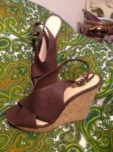 Women's Jessica Simpson Colavita 9M Platform Wedge Heels Sandals Brown Mrsp $129 - $49.49