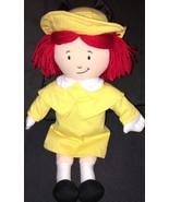 "Madeleine Doll Yellow Dress Black Silky Bow Red Hair 15"" Plush Appendix ... - $11.87"