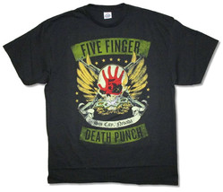 Five Finger Death Punch-Distressed Sin City Skull-X-Large Black T-shirt - $17.87
