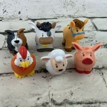 Fisher Price Little People Farm Animal Friends New Style Lot Of 6 Pig Ro... - $24.74