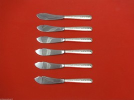 "Rambler Rose by Towle Sterling Silver Trout Knife Set 6pc. Custom Made 7 1/2"" - $366.80"