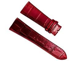 Red Alligator Pattern leather Strap band FOR Franck Muller 26mm Long Island - $39.99