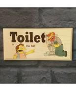 Simpsons Toilet Sign, Funny Bathroom Door Plaque Rude 190 - $12.35