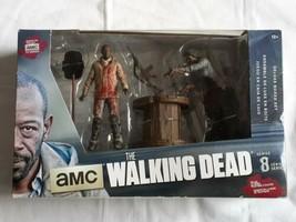 "Morgan & Impaled Walker The Walking Dead AMC TV Show 5"" inch Deluxe Box ... - $17.96"