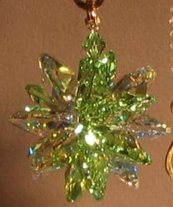 J'Leen AB and Peridot Small Suncluster with Austrian Crystal