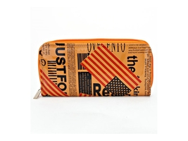 Orange American Flag Zip Around Wallet - $17.07 CAD