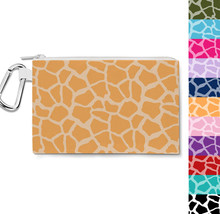 Bright Giraffe Print Canvas Zip Pouch - $15.99+