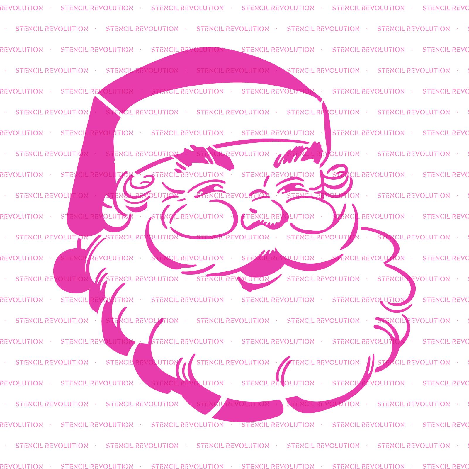 Santa Claus Stencil - Reusable Stencils of Santa Claus in Multiple Sizes