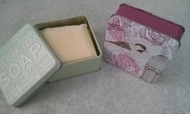 The Scottish Fine Soaps Co Soap Bar in a Tin Pink Amber Rose Jasmine 3.5oz LOT 2 image 2