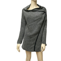 Italian Made Tunic Sweater Soft Knit Jacket Wool Blend Asymmetrical M FO... - $32.73