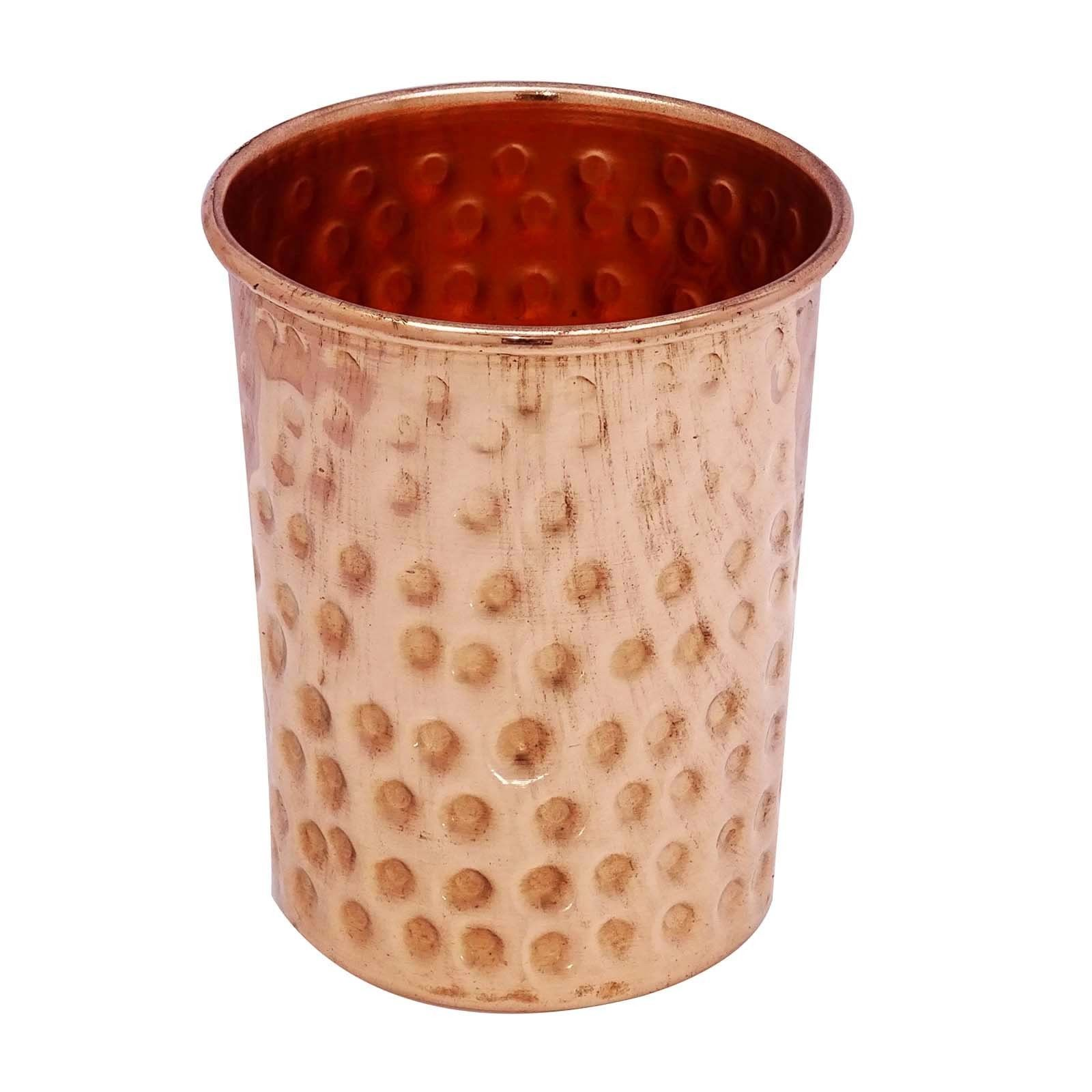 Traditional Hammered Copper Glass Tumbler Tableware Drinkware Glassware05