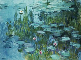 Water Lilies Nympheas Painting by Claude Monet Art Reproduction - $32.99+