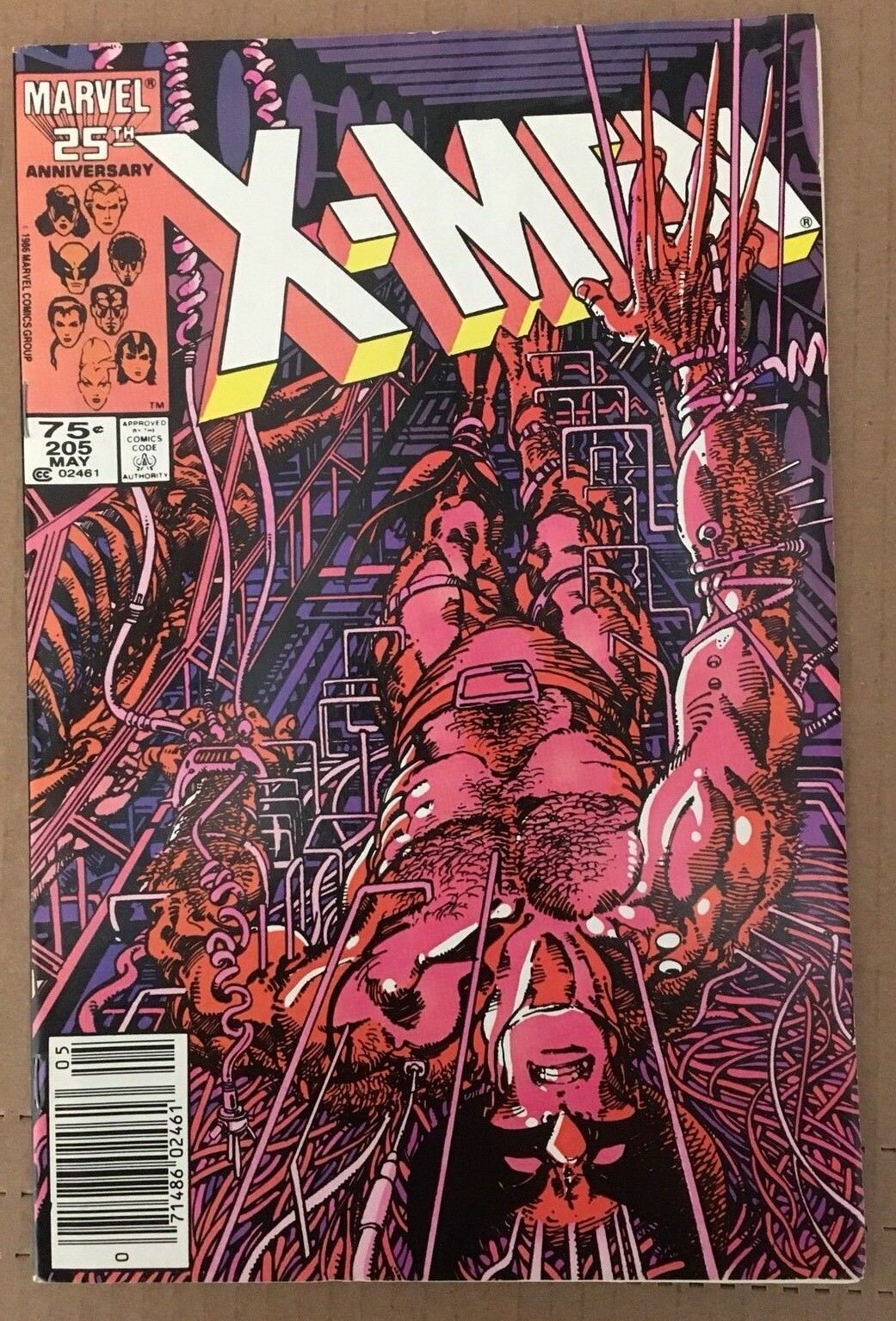 Uncanny X-Men 1st Series #205 1986 VF- 7.5 Condition Wolverine Marvel Comic Book