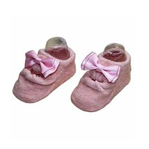 2 Pairs Beautiful Bowknot Baby Socks for Baby Girls, Pink[B]