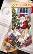 Dimension Sweet Dreams Santa Kids Christmas Eve Cross Stitch Stocking Kit 8740 N - $64.95