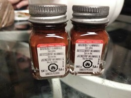 2 TESTORS PAINT GLOSSY BROWN ENAMEL 1/4oz JAR  plastic model car TES1140... - $6.92
