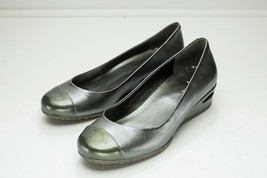 Cole Haan 6 Silver Wedge Pumps - $46.00