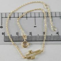 Bracelet or Jaune 750 18K, Longueur 18 cm avec Croix Vis- , Fabriqué en ... - $141.82