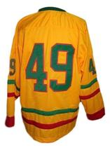 Any Name Number Lithuania Retro Hockey Jersey New Yellow Any Size image 2