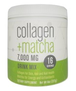 Collagen + Matcha 7,000 MG Drink Mix 8 oz 16 Servings Sealed  - $19.79