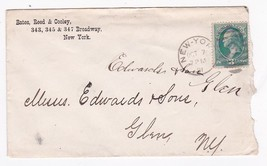 BATES, REED & COOLEY NEW YORK NY OCTOBER 7 1881 WITH LETTER - $6.78