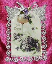 Handmade Vintage Style Victorian Lace Wedding Card Ornament or Party Favor  - $6.99