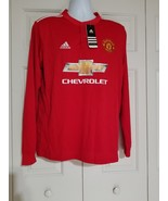 Adidas Manchester United Lingard Home Long Sleeve Chevrolet Jersey Size ... - $48.51