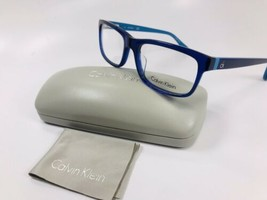 New Calvin Klein CK5820 438 Blue Eyeglasses 52mm with Case - $59.35