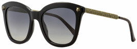 Gucci Cat Eye Sunglasses GG0217S 006 Black/Antique Gold Polarized 52mm 0217 - $188.09