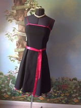 DressBarn Collection  Black Trimmed with Pink Women Dress Size 6  - $28.71