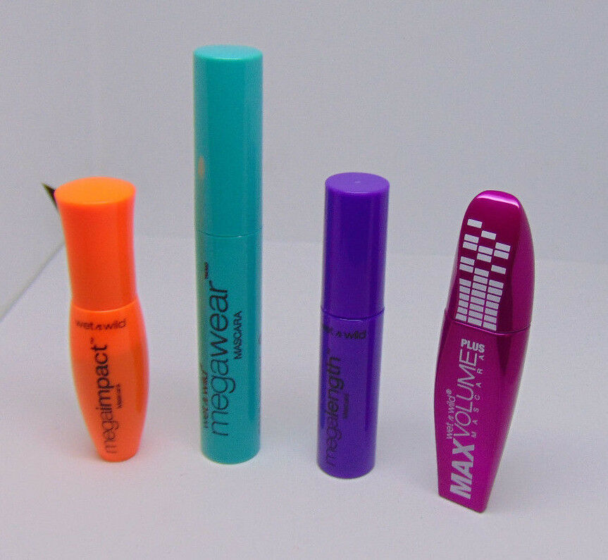 Primary image for Lot of 4 WET N WILD Mini Mascaras No.C136 139 148 150 Black
