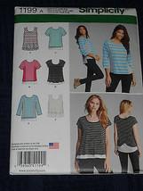 Knitt Tops Misses size XXS-XXL Simplicity 1199 Sewing Pattern - $9.40