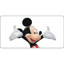 mickey mouse centered disney cartoon license plate usa made - $18.99